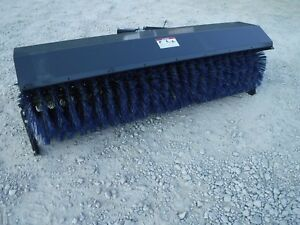 Bobcat Skid Steer Attachment Virnig 96 Hydraulic Angle Sweeper Broom Ship 299