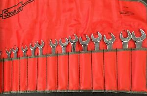 Vintage Snap on Tools 14 Piece Metric Combination Wrench Set 6mm 19mm C 142