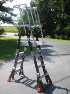 Little Giant 19504 Compact Safety Cage Ladder 4 Ft To 6 Ft Platform Height