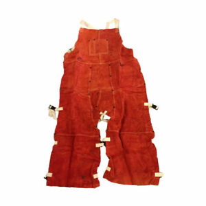Split Leg Welding Apron Orange Red 664979201747