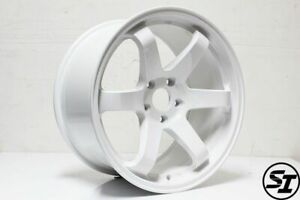 Rota Grid Wheels White 18x9 5 38 5x100 Subaru Wrx 02 14 Sti 04 Tc 04 10