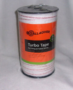 Gallagher Turbo Tape 656 Feet G623544 Electric Fence 1 2 inch White Nip New