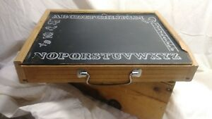 Vintage Child S Abc Chalkboard Pegboard Lap Desk With Carrying Handle 1950 A6