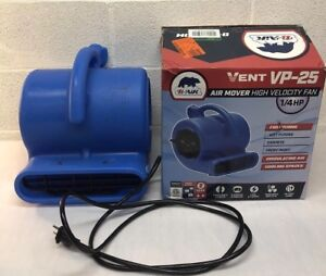 B air Vent Vp 25 High Velocity Blower Fan 1 4 Hp 115v Air Mover