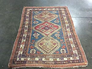 Authentic Antique Caucasian Shirvan Tribal Rug Circa 1900 S