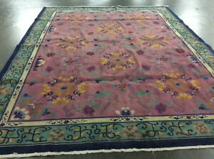 Authentic Antique Chinese Art Deco Oriental Rug 1920 S Handknotted Most Unusual