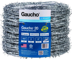 Gaucho 118293 4 point Barbed Wire 1320 Ft L 5 In Barb High Tensile Steel