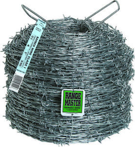 Rangemaster 7125 2 point Barbed Wire 1320 Ft L 5 In Barb Zinc Coated