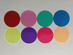 Microscope 32mm Set Of Eight Solid Color Filters Collectors Full Color Set
