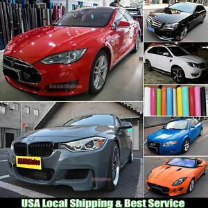 Glossy Car Paint Change Bright Flat Vinyl Wrap Film Sticker Bubbles Free Abus