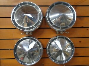 Ford 10 1 2 Poverty Dog Dish Hubcaps Hub Caps Good Used Oem Set Of 4