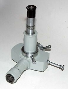 zeiss Microscope Photomicroscope Tube Head With 4 1 Objective