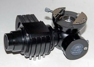 Vintage Zeiss Microscope Fluorescence Filter Slider Turret With Fl 400