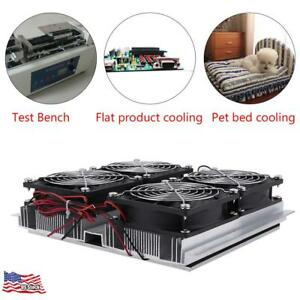 12v Semiconductor Refrigeration Thermoelectric Peltier Cold Plate Cooler W Fan