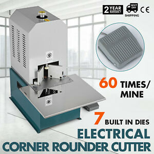 Electrical Corner Rounder Cutter Machine With 7 Dies Card W Drawer 70mm Good
