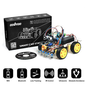 4wd Robot Car Kit Tracking Wifi Bluetooth Android Ios App Control For Arduino