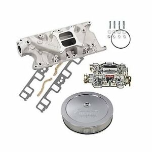 Sbf Ford 302 Edelbrock 2121 Intake W gaskets 750cfm 1407 Air Cleaner Combo