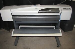 Hp Designjet 500 C7770b 42 Large Format Usb Inkjet Plotter Printer 2521