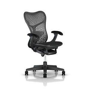 Herman Miller Mirra 2 Chair Std Tilt Fixed Arms Hard Casters Graphite