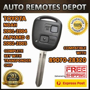 Remote Key Fob Transmitter Chip For Toyota Alphard G Noah 2001 2005 89070 28320