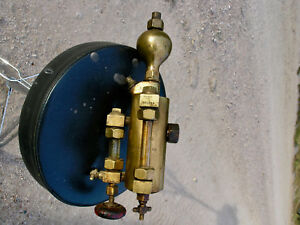 Pint Steam Engine Oiler Detroit Lubricator Starionary Hit Motor Brass Tractor