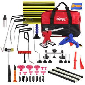 Paintless Dent Removal Tools Puller Lifter Push Rods Hail Repair Tools Set Bag