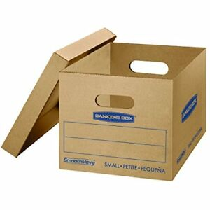 Classic Moving Boxes Tape free Assembly Small 15 X 12 X 10 Inches 10 Pack