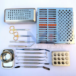 Premium German Dental Prf And Grf Box System Kit Implant Instruments Surgery Set