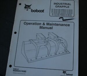 Bobcat 60 66 68 72 In Grapple Bucket Owner Operator Operation Maintenance Manual