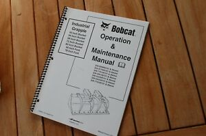 Bobcat 60 68 72 80 66 75 In Grapple Bucket Operation Operator Maintenance Manual