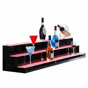 60 3 Led Liquor Bottle Display Shelf Wine Rack Bar Supply Stand Wireless Remote