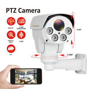 5mp 1920p Poe Ptz Camera Outdoor 4x Zoom Hd Security Network Cam Night Vision