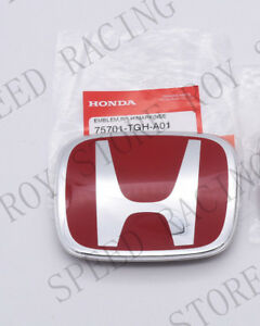 Red Jdm H Emblem Rear For 2016 2019 Honda Civic Sedan Dx Ex Lx Si