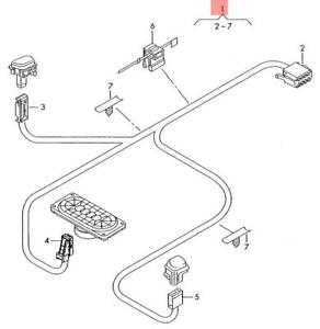 Genuine Audi Additional Wiring Harness For Dash 8p1971277f