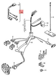 Genuine Vw Audi Seat Beetle Cabrio Cabriolet Adapter Cable Loom Lhd 1j0971008