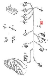 Genuine Audi R8 Additional Wiring Harness For Dash 424971277a