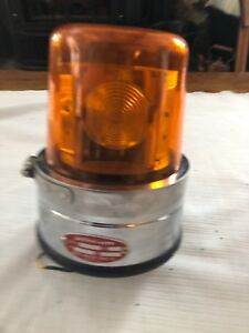 Vintage 1991 Amber action Lite Bb p Rotating North American Signal Co
