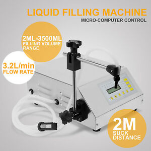 Liquid Filling Machine 2ml 3500ml Machine Low viscous Pump Filler Heat Protect