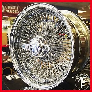 17 Wire Wheel Chrome 100 Spokes Std Std For 1971 1976 Cadillac Deville
