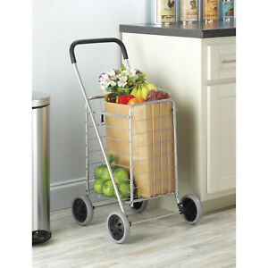 Rolling Shopping Cart Grocery Wagon Heavy Duty Folding Collapsible Easy Storage