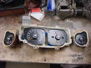 Original 1969 Ford Mustang Instrument Cluster Gauges Fastback Mach 1 Coupe