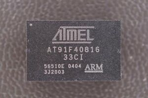 At91f40816 33ci Atmel 16 32 bit Arm Microcontroller 40mhz 3 0v 2mb 120 Pin Bga