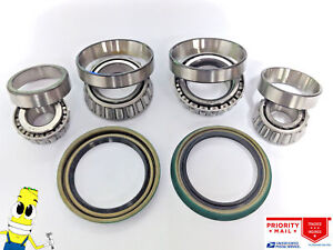 Usa Made Front Wheel Bearings Seals For Porsche 356c 1964 1965 All