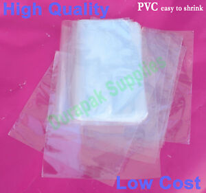 500 Pcs 6 5x9 Heat Shrink Film Wrap Flat Bags W Vent Hole Dvd Retail Packaging