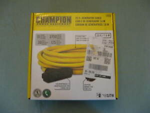 Champion 125 Volt Generator Cable L5 30r Locking Outlet 5 20r House Outlet
