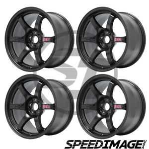 4x Gram Lights 57dr 17x9 38 5x100 Semi Gloss Black Set Of 4 Wheels Frs Brz Wrx