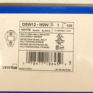 Leviton Commercial Osw12 m0w Multi tech Ceiling wall Mounted Occupancy Sensor