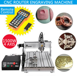 1500w Usb 6040 3d Router 4 Axis Engraver Milling Carving Machine Remote Control