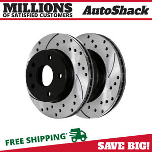 Front Drilled Slotted Disc Brake Rotors Pair 2 For Chevy Cruze Sonic Volt 2 0l