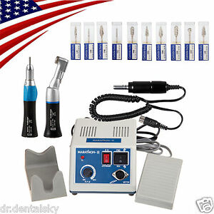 Usa Dental Lab Marathon Electric Micro Motor 35krpm 2 Handpieces 10 burs W1 e